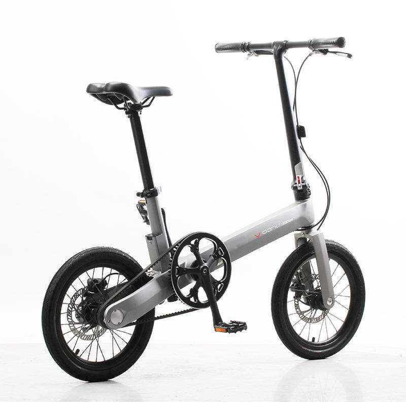 "2020 New fashion aluminum alloy 16"" light road bike folding lady bike folding mini bicycle"