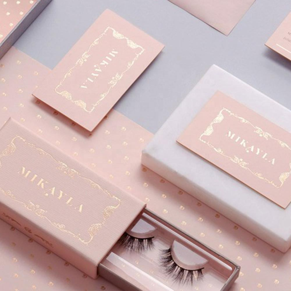 Your Own Brand Private Label Magnetic Strip Eyelash Package Case Eye Lashes Glitter Eyelash OEM LOGO Custom Packaging Box