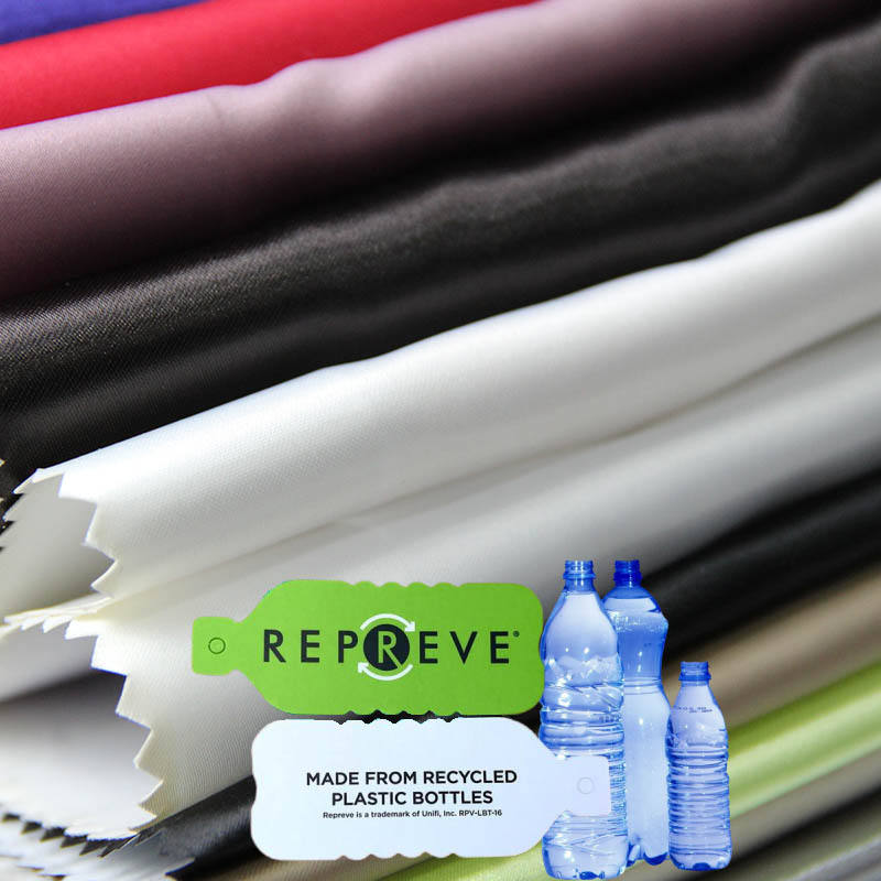 Print Fabric Manufacturer Danlu Textile Print Satin Manufacturer 50*75D Satin Stretch Fabric Recycled Plastic Bottle Fabric For Clothing