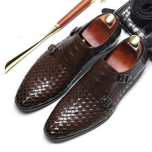 Luxury brand British Style Formal Shoes Men Dress Loafers Genuine Leather Men's Slip-on Shoes Handmade Office Shoes