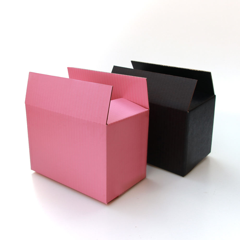 pink paper box 3-layer corrugated paper packaging gift box customized size and logo