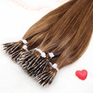 Amazon Ebay POPULAIRE HUMAN HAIR EXTENSIONS salvic remy volledige nagelriemen virgin braziliaanse nano tips human hair extension