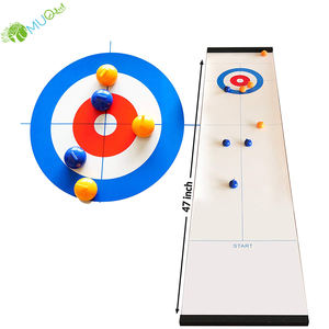 YumuQ Tabletop / Table Top Mini Curling Board Games for Indoor and Outdoor Kids and Family Games