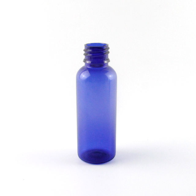 50ml Clear Blue Cosmetic Plastic Bottle PET Type for Body Lotion, Skin Care Cream Packaging Bottle