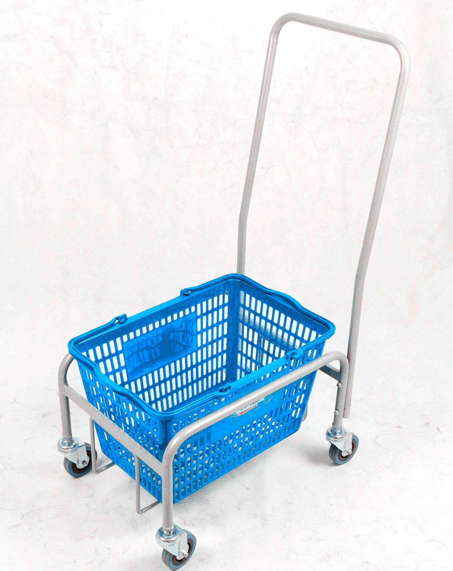 supermarket cart Most popular hand trolley, simple cheap shopping trolley with Square-shaped armrests