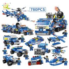 8 IN 1 Legoinglys City's Police Series SWAT 780 pcs Building Blocks with trucks