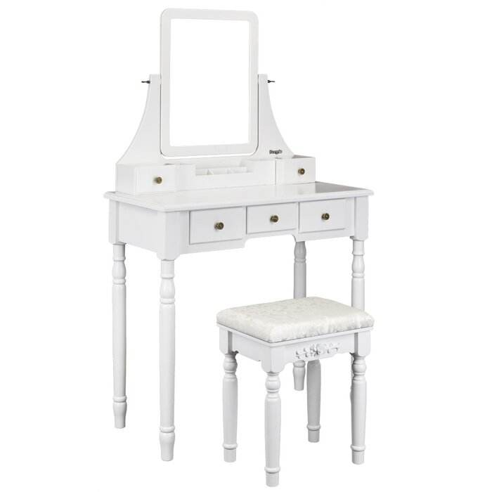 European cheap white dresser mirrored furniture dressing table