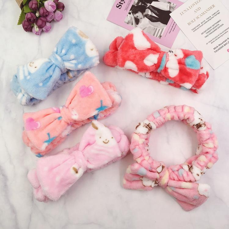 Accessories Hairband Cotton Point Pattern Face Makeup Girls Animal Headband