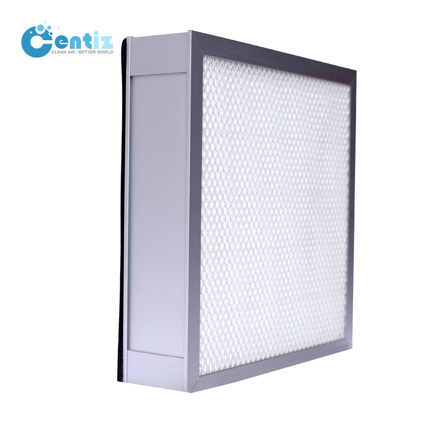 high efficiency Without partition material filters cleanroom hvac panel filter deep-pleat air filter