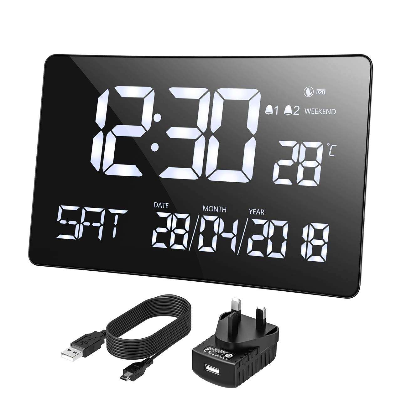 Multifunctional LED Display Digital Wall Alarm Clock For Decoration