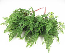 Shininglife Factory direct Cheap Fern 7 Fork 19 Leaf artificial Plastic Persian Grass fern