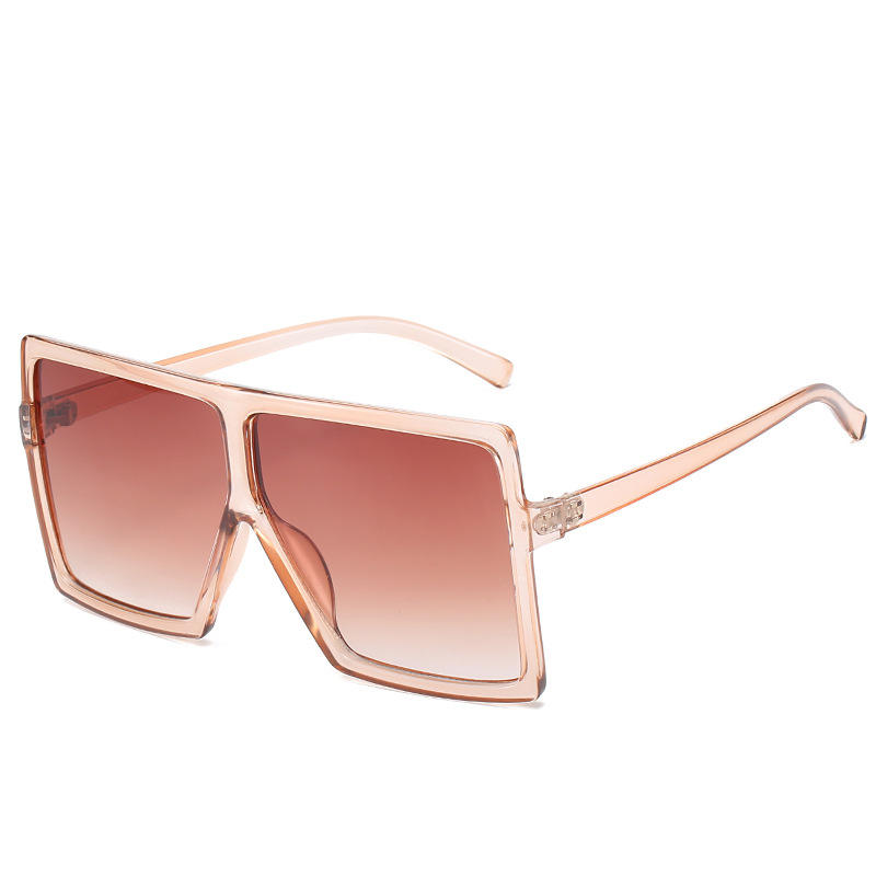Wholesale women sunglasses oversized frame multicolor outdoor shades protection female sunglass