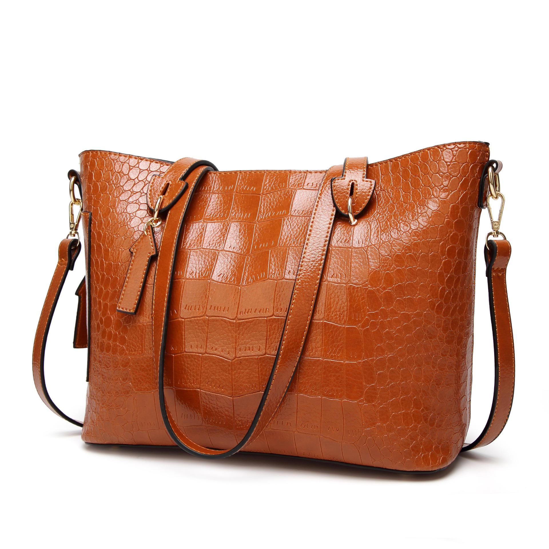 Angedanlia professional customized logo lady crocodile leather women bag handbag