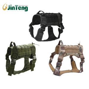 Tactical Service Military Army Dog Vest Training Harness for Dogs with Chest Rig Bag k9 Dog police Swat Vest