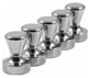 12 Brushed Nickel Magnetic Push Pins, Pawn Style - Silver Push Pin Magnets Great for Office Magnets, Fridge Magnets