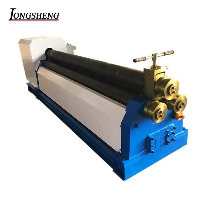 small hydraulic CNC stainless steel plate rolling bending machine 3 roller bending machine for long plate
