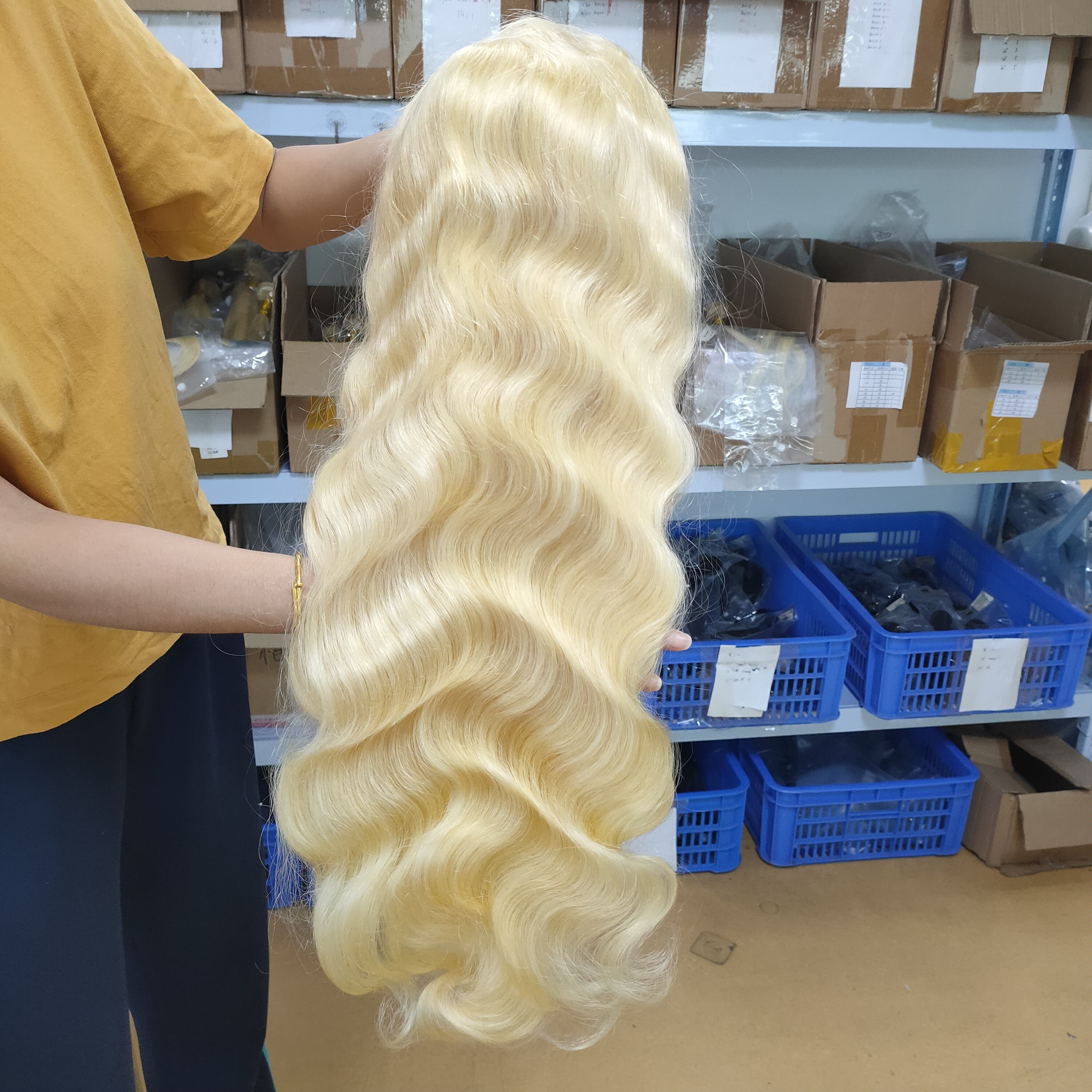 wholesale price 613 lace frontal wig 150% density body wave 100% human hair
