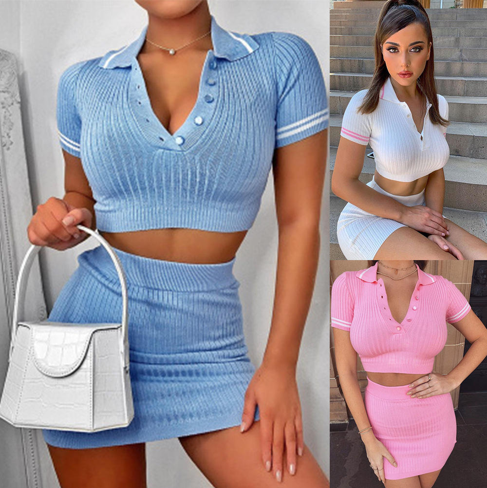 2020 sweat skirt t shirt new dresses women summer two 2 piece sets