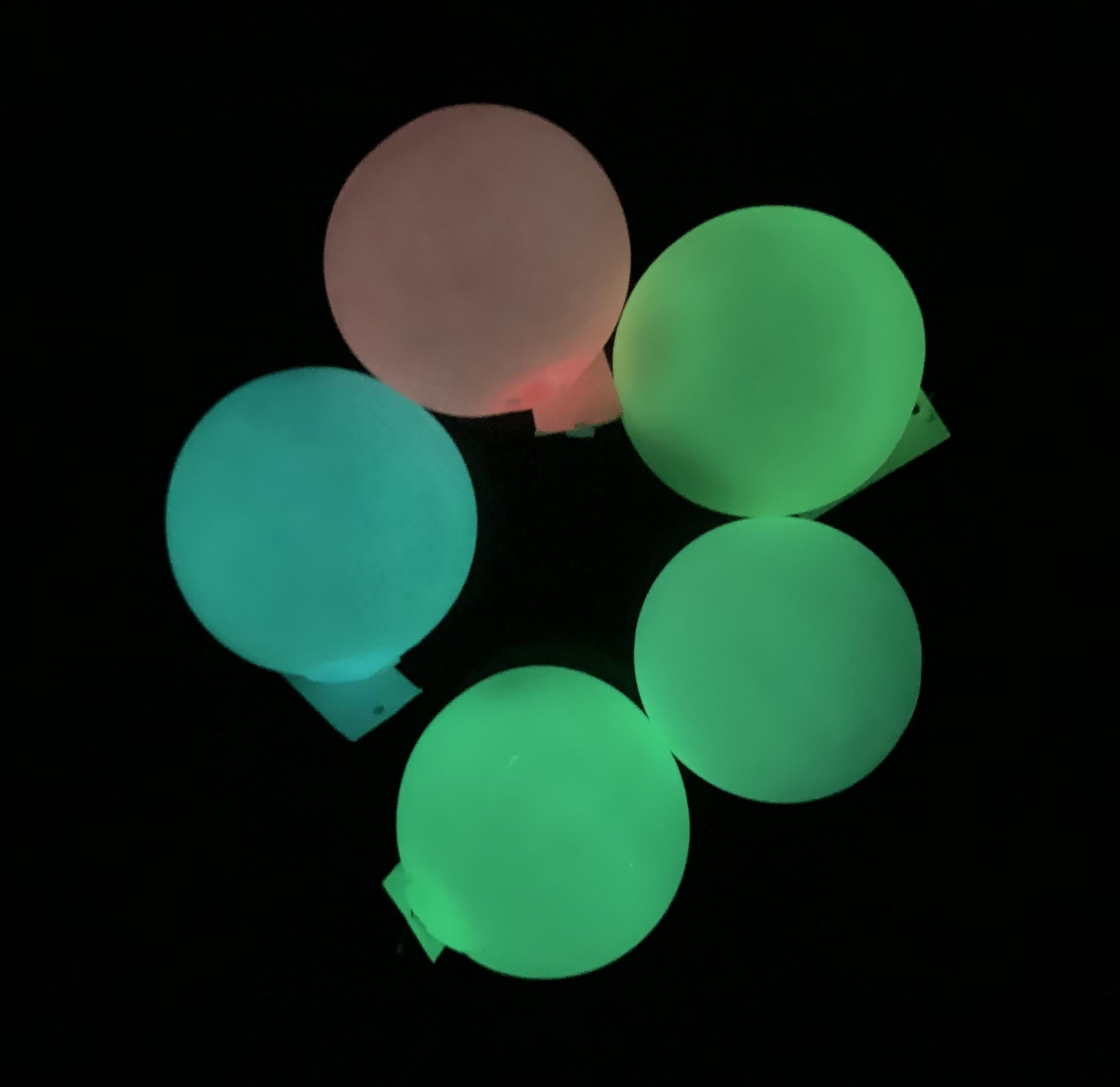5CM TPR Soft Sticky Target Wall Ball, Anti-stress glowing in the dark sucker sticky ball Toys For Kids