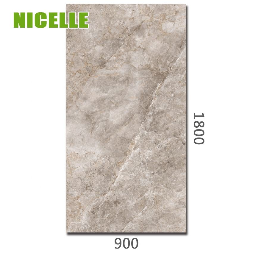 2020 new grey color marble design 900x1800mm big size porcelain thin tile