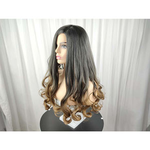 26 Inch Loose Wave Synthetic Wig Quality European Natural Long Ombre Hair Wigs