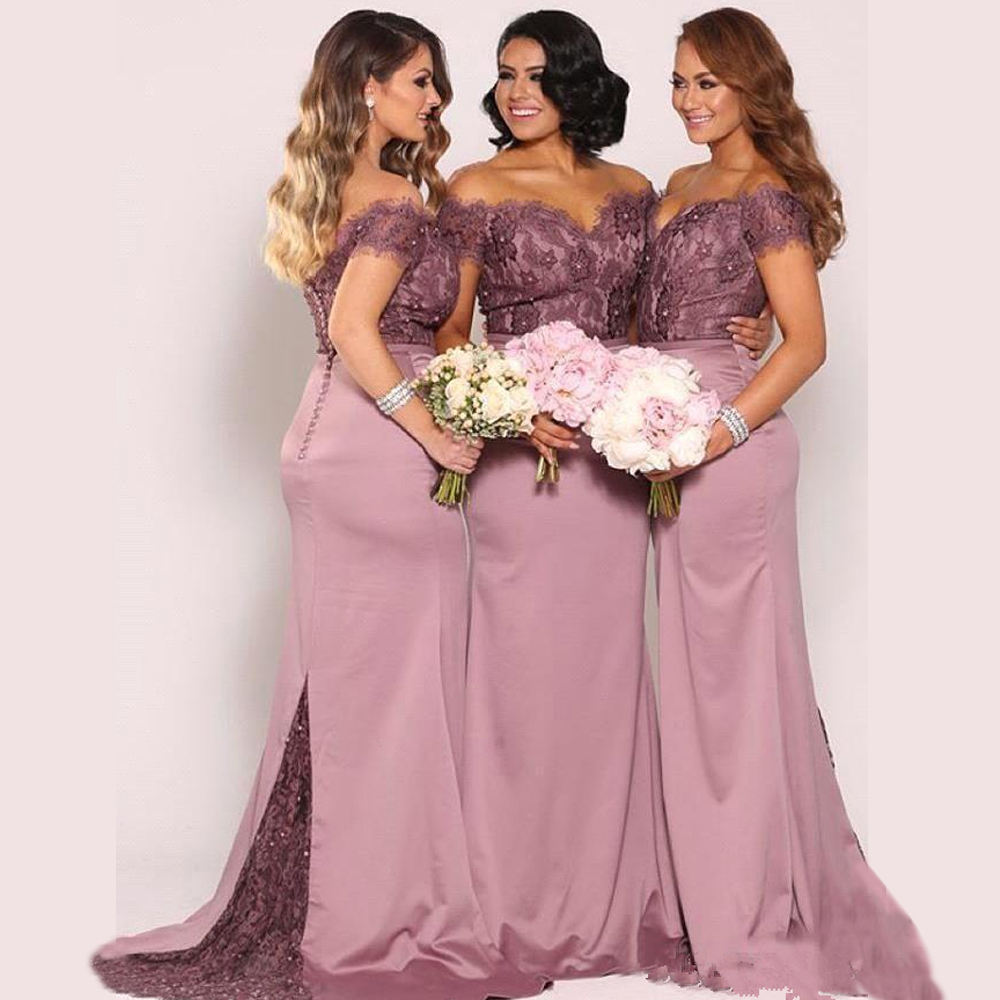 ELPR0000650 2020 new lace african bridesmaid dress high quality pink long dress