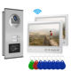 9 Inch Video Intercom APP Remote Control 9 Inch Monitor Wifi Video Door Phone Doorbell RFID Camera Intercom System With 2 Multi Apartments