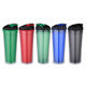 Eco-friendly double wall plastic insulated tumbler
