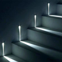 Rectangular 3W Wall Recessed LED Stair Lights Step
