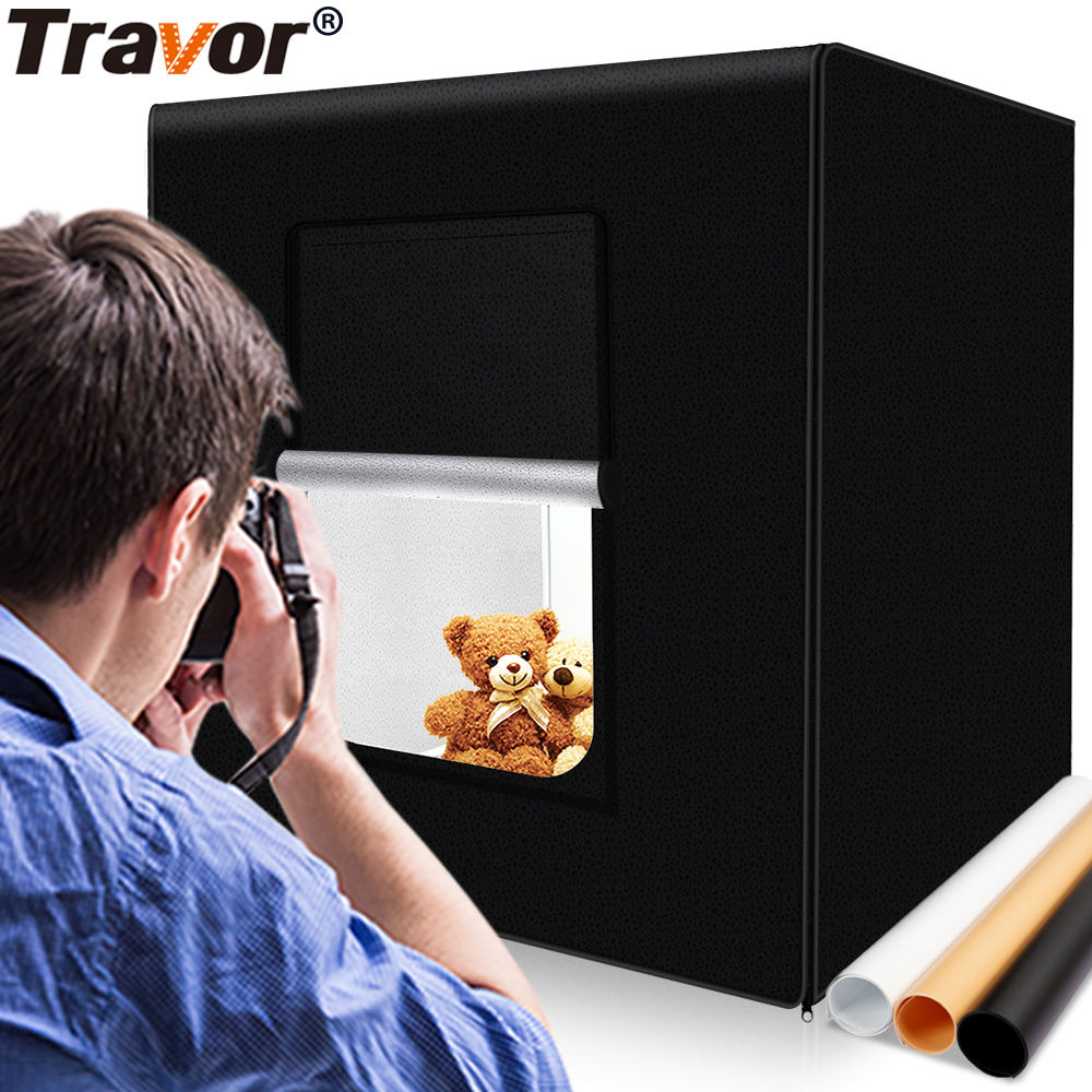 Travor M40 photography accessories 40cm light softbox product photography studio light soft box kit with 3 color background