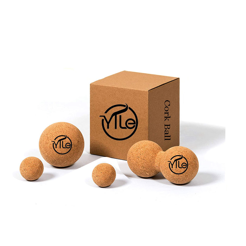 Natural eco friendly high premium cork ball foot massage balls for gift