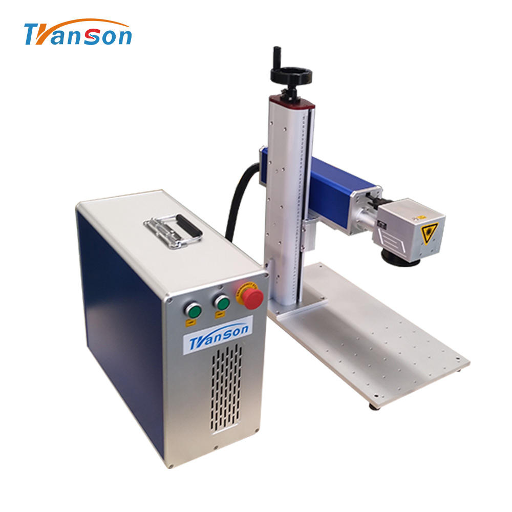 Mini 20W 30w 50w 100w Raycus JPT MOPA Fiber Laser Marking Machine Metal For Jewelry Silver Gold with Rotary