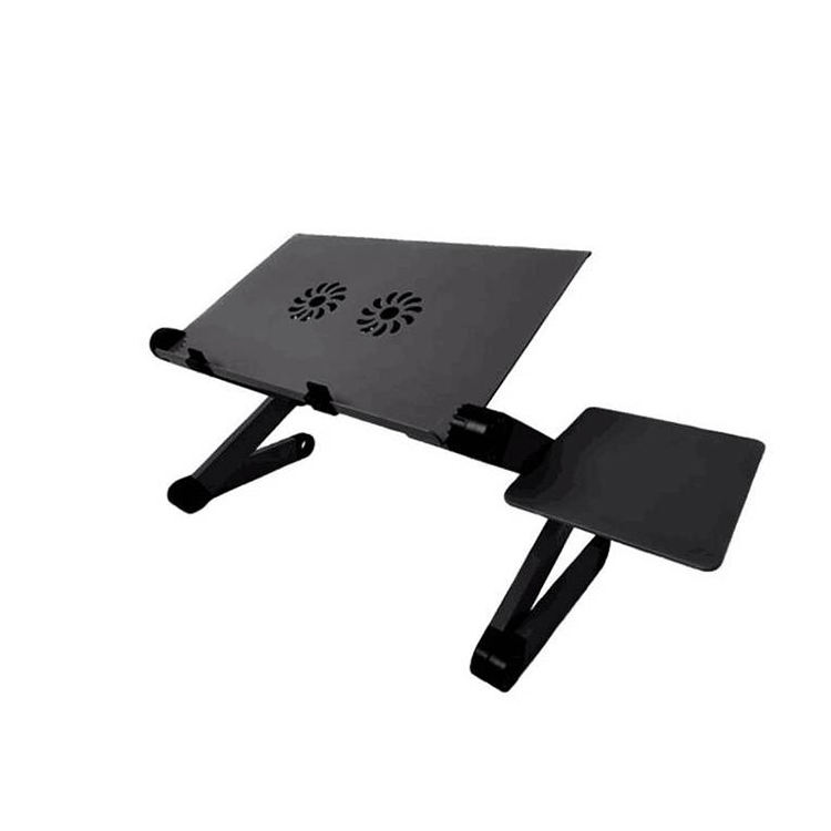 adjustable recliner aluminum laptop desk table stand vertical with usb cooling fan