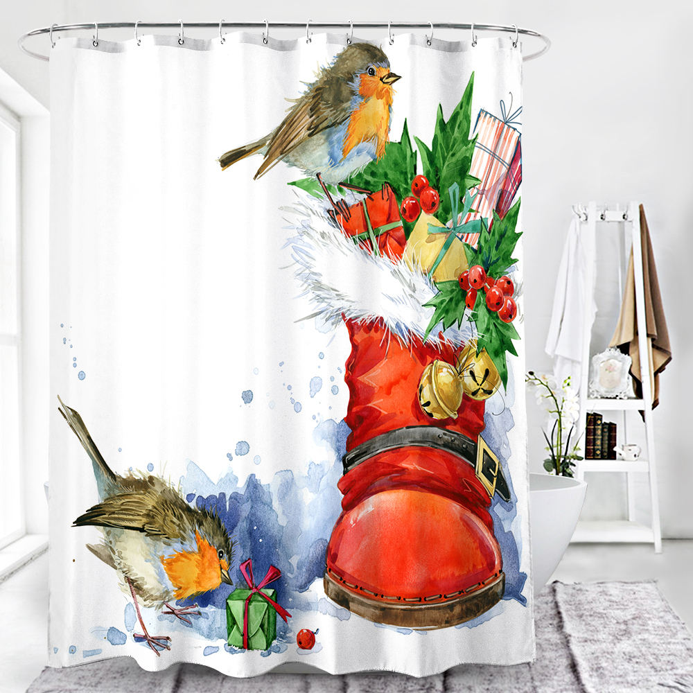Polyester Shower Curtain Liner、Mildew Resistant Waterproof 72 × 72 Inch Eco-Friendly Custom Bathroom Curtain