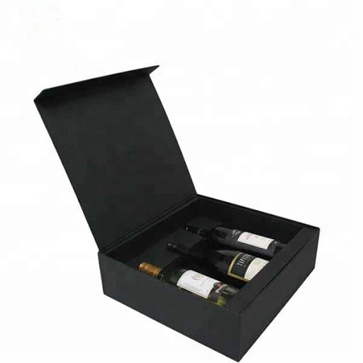 Custom Luxury paper box for wine liquor packaging paper boxes 2 bottles