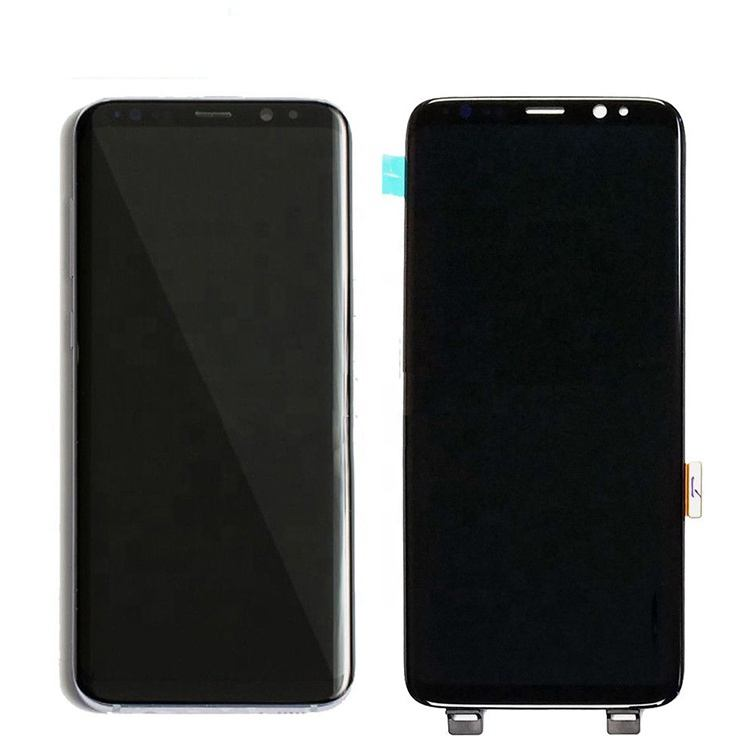 Untuk Samsung Galaxy S9 Plus G965 G960 LCD Touch Screen Replacement Asli Tampilan Home Tombol Oem Perakitan Digitizer Suku Cadang