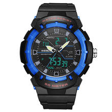 Weide Watch Men's Digital Clock Men Outdoor 50M Waterproof  Chronograph Watch LCD Display Digital Sports Watch