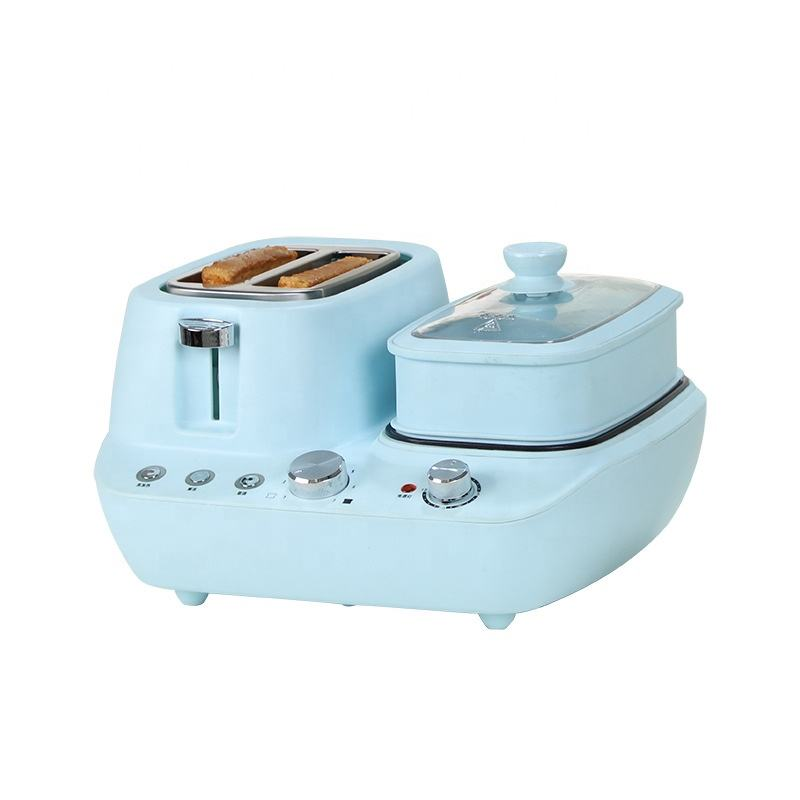 Instant Cooker Electric Fryer, Toaster Kettle Breakfast Machine, 3 In 1 Breakfast Maker/