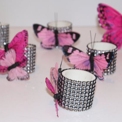 Butterfly Napkin Rings Set of 8