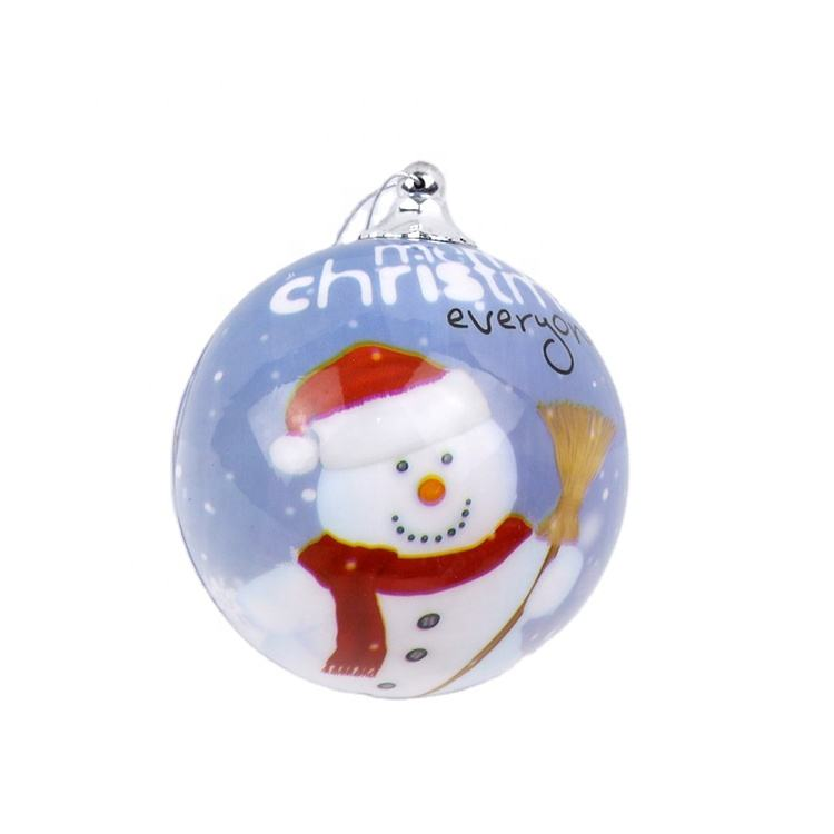 2020 high quality wholesale xmas plastic pvc oem ball Custom giant plastic christmas decoration led lighting bolas Oem Baulas