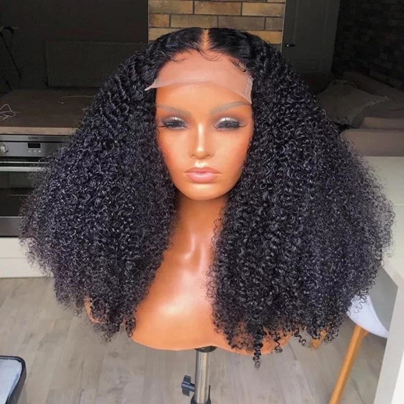 Raw Unprocessed Full Lace Wig Sale Human Remy Hair Swiss Lace Full Lace Wigs Natural Kinky Curly Virgin Wigs With Baby Hair