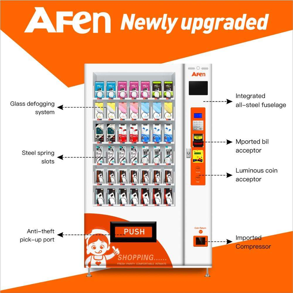AFEN mobile phone power bank vending machine,mobile cases vending machine