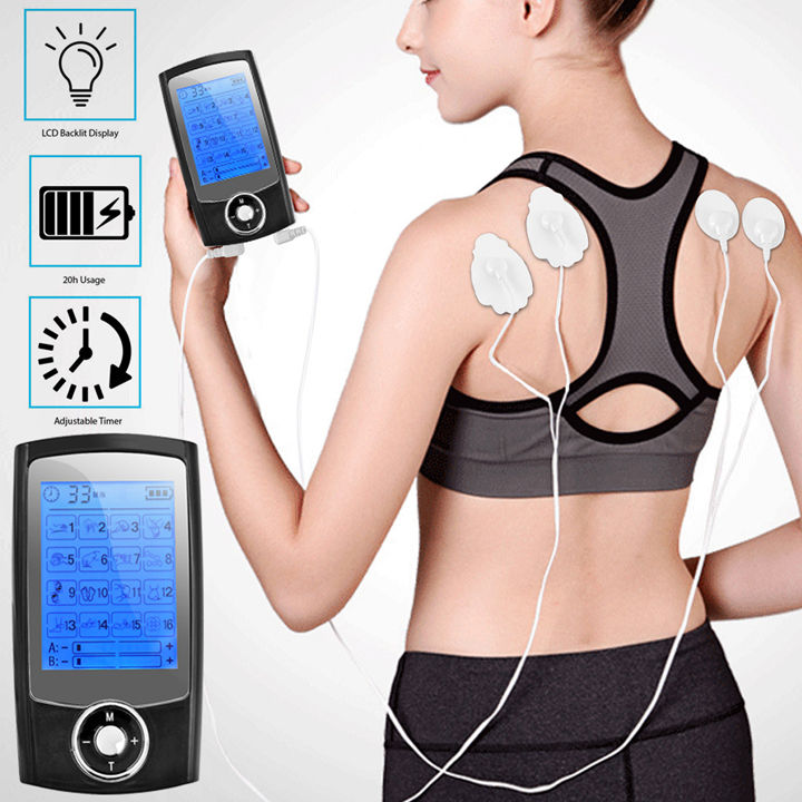 16 Program Modes 20 Massage Settings Pain Relief Body Massager EMS Muscle Stimulator with 4 Electrode Pads