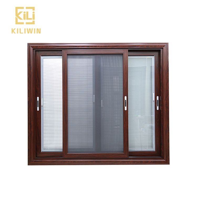 Made in foshan wooden designs windows pakistan double glass aluminum sliding window with mosquito screen for reception room