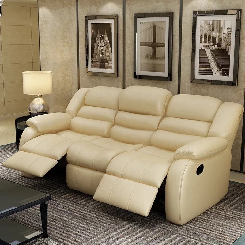 3 seater recliner living room sofa motorized used leather recliner