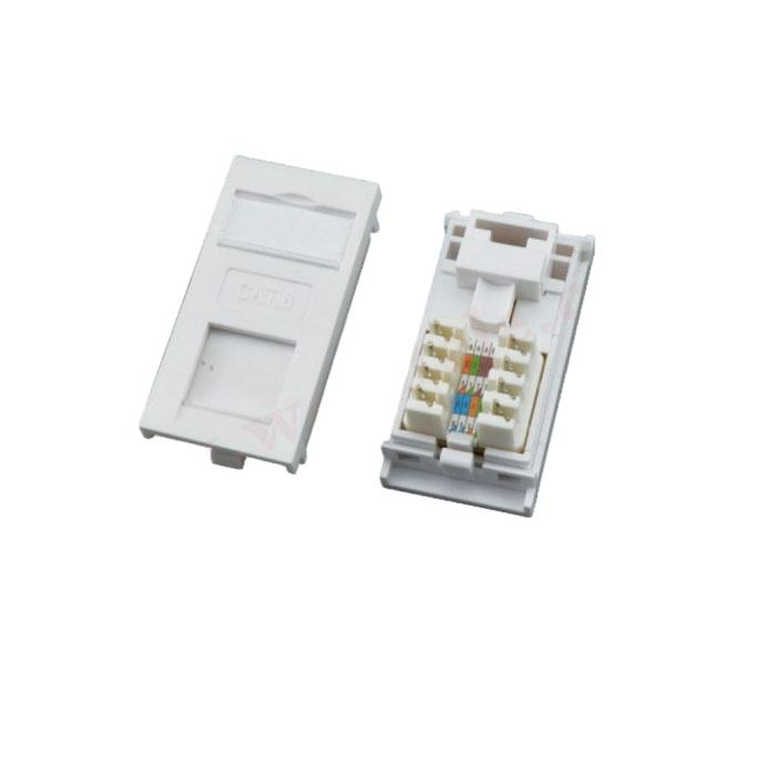 UTP Cat6 Module UK Type Krone IDC Termination 90 Degree Face Plate