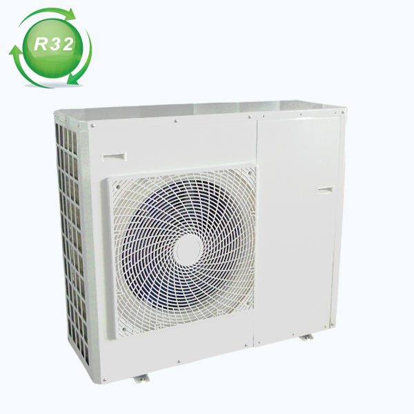 R32 heat pump high COP A+++ monoblock air to water heat pump for underfloor heating system fan coil system