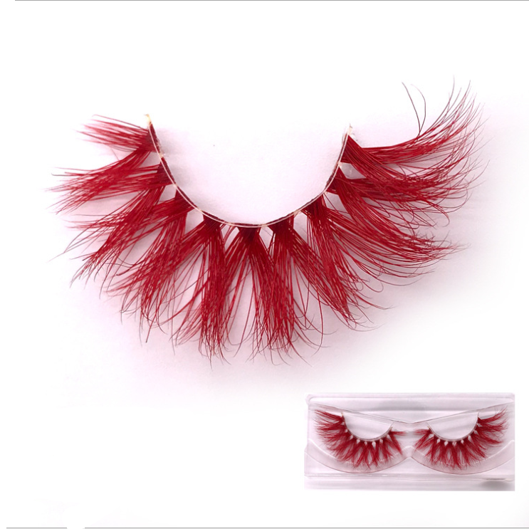 New Arriving Stars Colors Lash Long OEM Real Mink Eyelashes Natural Look Dramatic 3D Colored Lashes