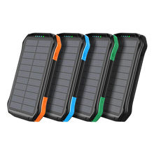 Travel Waterproof Slim Solar Power Bank 15000 mAh Dual USB Portable Solar Charger
