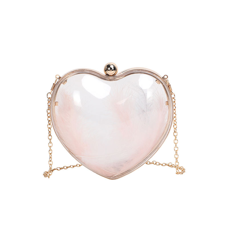 New fashion shell heart evening clutch bags shoulder bag Evening Bag wholesale clear handbags factory price in china MOQ2